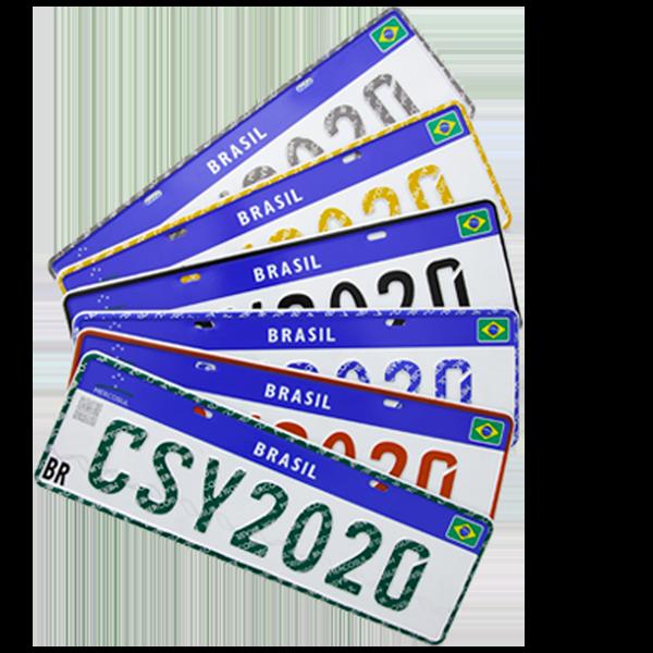 Centersystem - Placa Mercosul SP para Veículos e Motos. modelos placas sem fundo 1 1