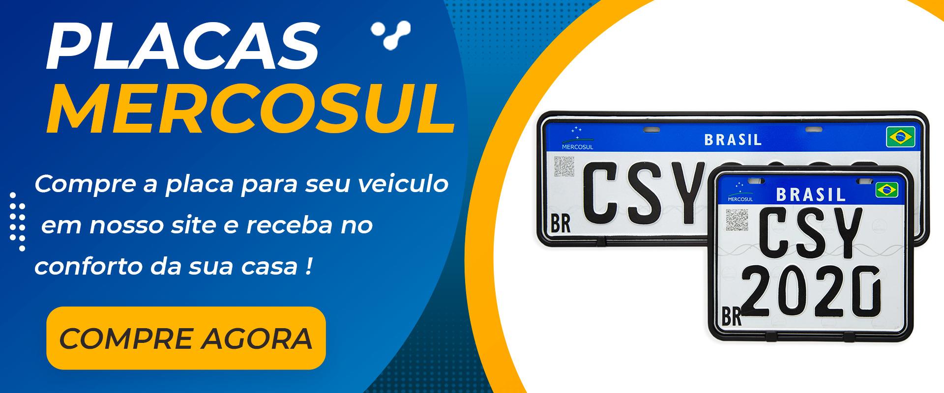 Centersystem - Placa Mercosul SP para Veículos e Motos. banner home 2 1